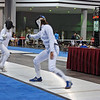 Katharine Holmes (right) in the DE of U19 Women's Epee.