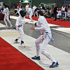 Katharine Holmes (right) in the Division I Women's Epee.