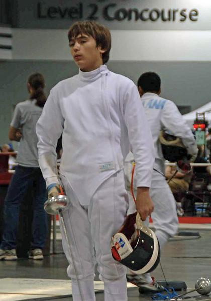 Sam Hayden in Division III Men's Epee.