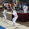 Linden Hill (right) in the Y10 Women's Epee.