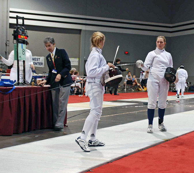 Olivia Morreale in the direct elmination of Division II Women's Epee.