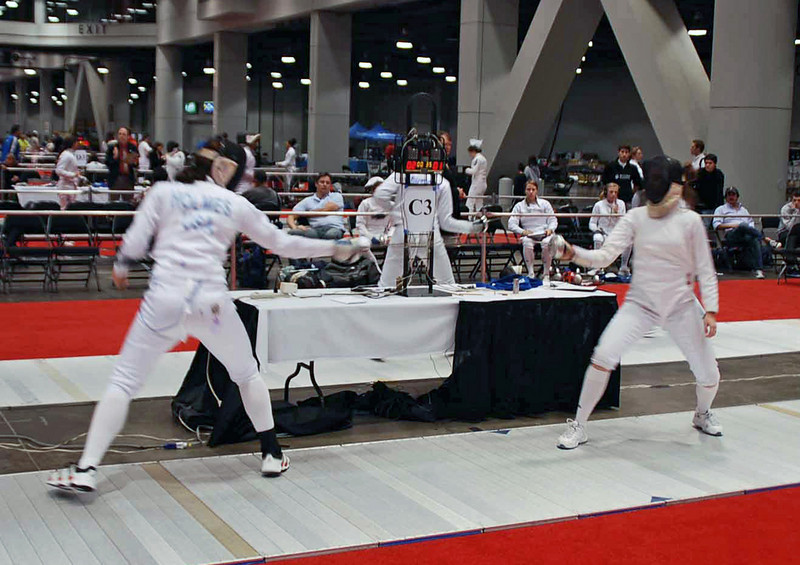 Katharine Holmes in the Division I Women's Epee.