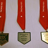The medals for the Veteran-70+ Women's Epee.