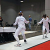 Katharine Holmes competes in the DE table of Division I Women's Epee.