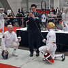 Bettie Graham (right) vs Terry Abrahams in the Veteran-70+ Women's Epee.