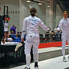 Katharine Holmes competes against her best friend, Grace Neveu, in the Division I Women's Epee direct elimination.