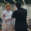 Mary Annavedder in the Veteran-70+ Women's Epee.