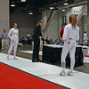 Ella Barnes prepares for her DE bout in the Division I Women's Epee.