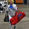 Bettie Graham going to her strip for the Veteran-70+ Women's Foil.