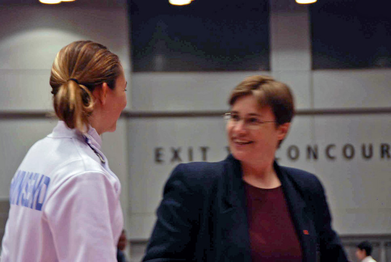Carolyn Townsend's Division II Women's Epee pool was refereed by Mary Frye.