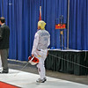 Bettie Graham competes against Terry Abrahams in the gold medal bout of the Veteran-70+ Women's Foil.