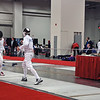 Sam Hayden fencing in the Junior Men's Epee at the 2012 Junior Olympic Championships.