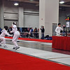 Sam Hayden (right) in the Junior Men's Epee.