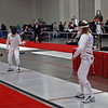 Ella Barnes (right) competes in the Junior Women's Epee.
