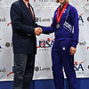 Courtney Dumas receives her 8th place medal in Junior Women's Epee.