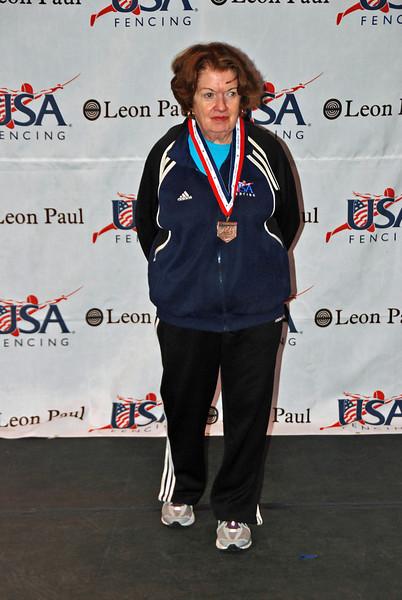 Diane Reckling, 3rd place, Veteran-70+ Women's Epee.