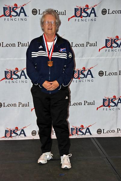 Patricia Bedrosian, 1st place, Veteran-70+ Women's Epee.