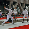 Julia Smith (left) in the Division II Women's Epee.