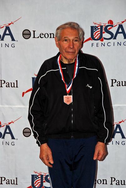Marcel Miernik, 3rd place, Veteran-70+ Men's Epee.