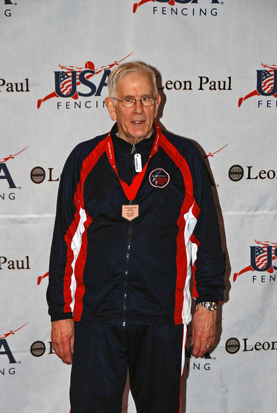 Robert Baldwin, 7th place, Veteran-70+ Men's Epee.