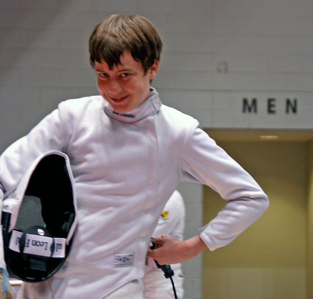 Raphael Hviding in the Division III Men's Epee.