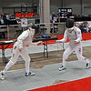 Bettie Graham (right) vs Una Jackson in the Veteran-70+ Women's Foil.