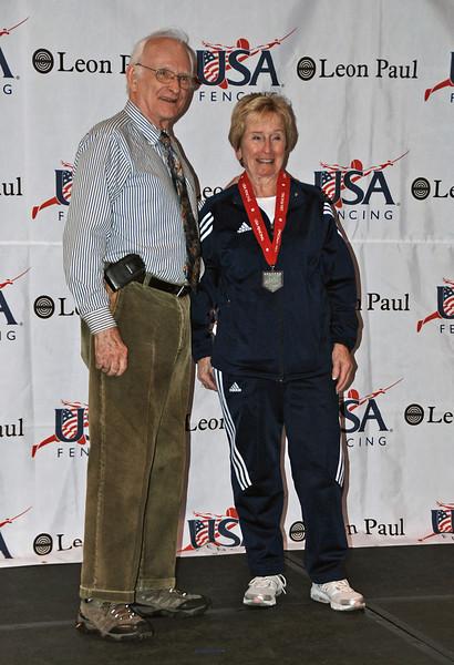 Una Jackson, 6th place, Veteran-70+ Women's Foil.