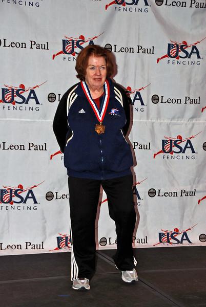 Diane Reckling, 1st place, Veteran-70+ Women's Foil.
