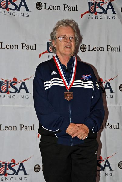 Patricia Bedrosian, 3rd place, Veteran-70+ Women's Foil.