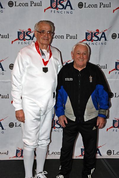 Carl Herkstroeter, 6th place, Veteran-70+ Men's Epee.
