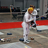 Bettie Graham prepares to compete in the Veteran-70+ Women's Foil.