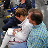 Nina Moiseiwitsch takes notes after each of her bouts in the Division I Women's Epee.