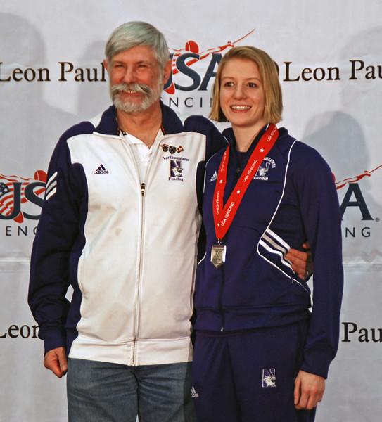 Courtney Dumas and her coach Laurie Schiller.