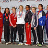 The finalists in the January 2012 Portland NAC Junior Women's Epee (from left): Audrey Abend (7th), Isabel Ford (5th), Catherine Lee (3rd), Anna Van Brummen (1st), Isis Washington (2nd), Aleina Edwards (3rd), Katharine Holmes (6th), and Courtney Dumas (8th).