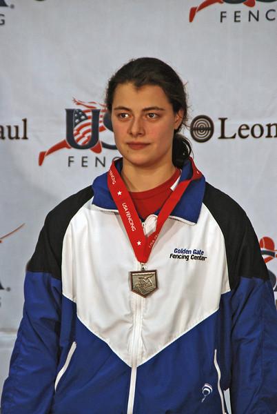 Katharine Holmes, 6th Place, Junior Women's Epee, January 2012 Portland NAC.