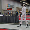 Katharine Holmes goes into overtime against Isabel Ford in the Division I Women's Epee.