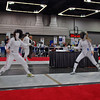Nina Moiseiwitsch (left) in the Division I Women's Epee.