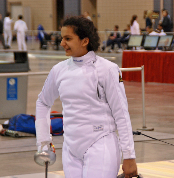 India Bhalla-Ladd in the Youth-14 Women's Epee.