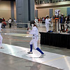 Emma Scala (right) in the Youth-14 Women's Epee.