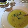 Potato leek soup at La Grotta.