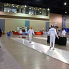 Levi Freedman in the direct elimination of Youth-12 Men's Epee.