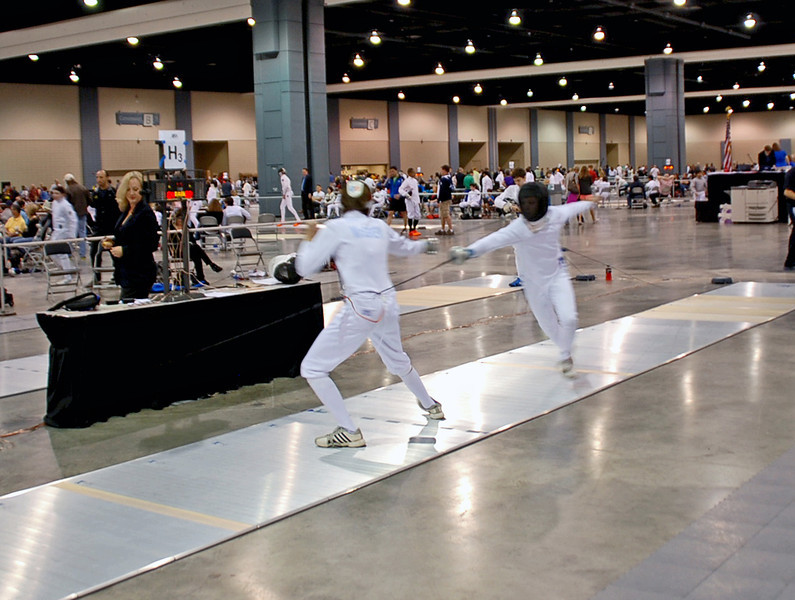 Nicholas McGrew in the Youth-14 Men's Epee.