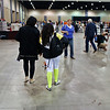 India Bhalla-Ladd and her mom return to home base after the preliminary round in the Youth-14 Women's Epee.