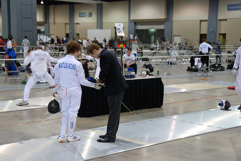 Toby Matus-Bond in the Youth-14 Men's Epee.