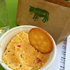 Pimento cheese & Ritz crackers appetizer at Pasture Restaurant.