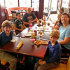 Dinner at T. Miller's with (from left) William Foster, Bryce Knight, Gerald Knight, Robert Foster, Olivia Foster, Melanie Carr and Seth Flanagan.