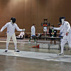 Mark Henry vs. Peter Calderon in the preliminary round of the Veteran-70+ Men's Epee.