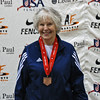Ellen O'Leary, 3rd Place, Veteran-70+ Women's Epee.
