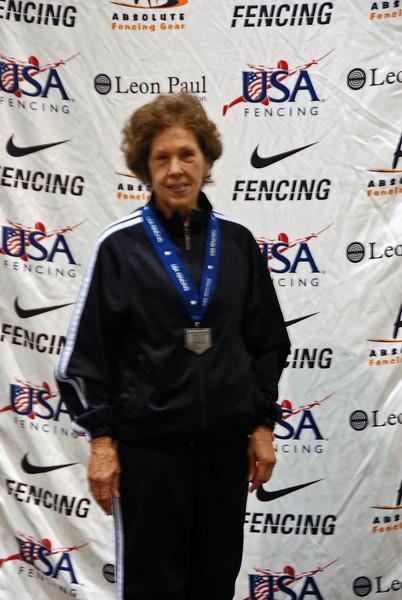 Catherine Radle, 6th Place, Veteran-70+ Women's Foil.