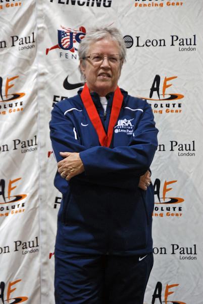 Pat Bedrosian, 2nd Place, Veteran-70+ Women's Foil.